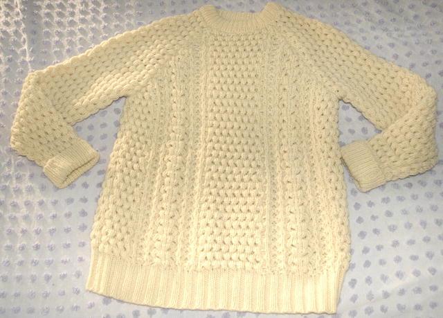 Authentic  Lisheen Irish Fisherman's Sweater