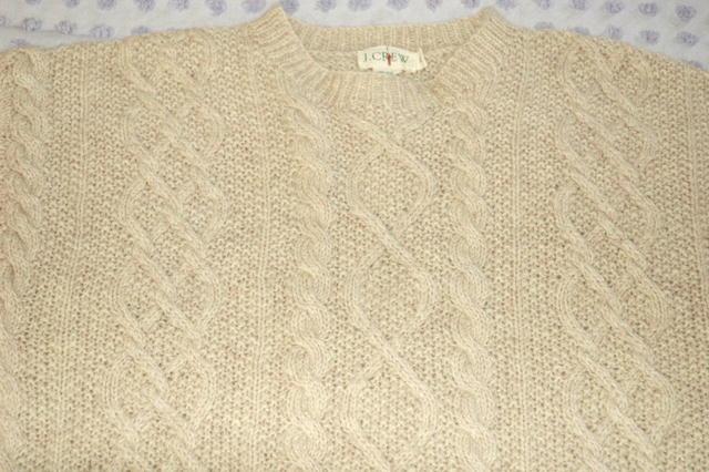 J. Crew  Irish Fisherman's Sweater ecru