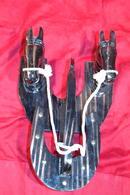 EQUESTRIAN TACK HANGER Carved Pine Horse Head  Horse Shoe Tack Hanger