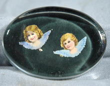 Oval Paper weight with angels