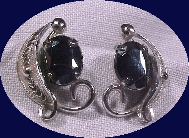 Sorrento Sterling & Hematite Earrings *