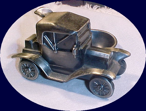 Antique  Pewter  Car Pipe Holder