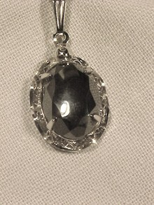 Sorrento Sterling Hematite Pendant Necklace