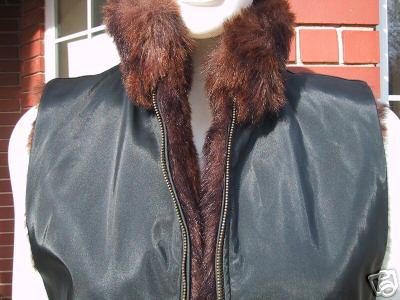 Coaco New York reversable Faux Fur Vest -Medium-