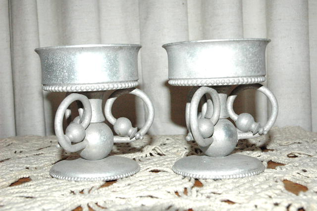 B.W. Buenilum Aluminum Oil Lamp Bases  *PRICE REDUCTION!*