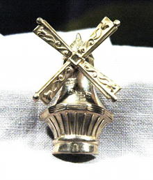 Sterling Silver Movable Windmill Brooch by Lang
