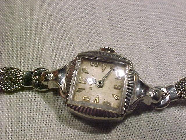 Vintage  Bulova  Swiss 10K White Gold Watch