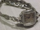 Vintage  Bulova  Swiss 10K White Gold Watch