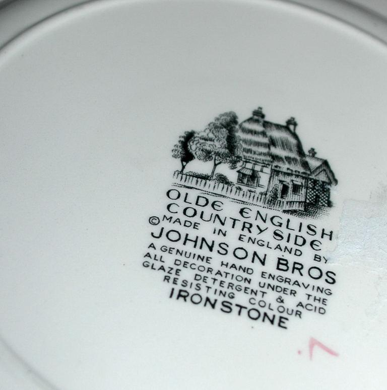 Olde English Countryside Made in England by Johnson Brothers Square Salad Plate  FREE SHIPPING