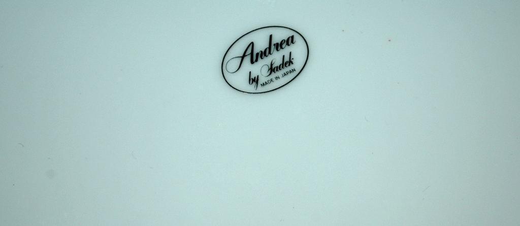 Andrea by Sadek Porcelain Cake Plate with Matching Server Vineyard Pattern    FREE SHIPPING