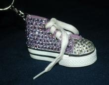 High Top Tennis Shoe  with Rhinestone Key Chain   Free Ship