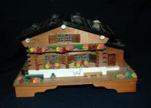 SWISS CHALET MUSICAL  JEWELERY BOX  Hand made