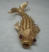 Large Boucher Koi   Fish Pin Brooch