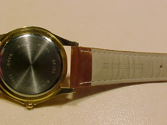 Baby Angel or Cherub Watch By Infinity with Genuine Bronze Leather Band