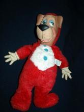 HUCKLEBERRY HOUND HANNA-BARBARA  TV CARTOON SHOW KNICKERBOCKER LARGE PLUSH / RUBBER FACE AND HANDS  DOLL 60s FREE SHIPPING