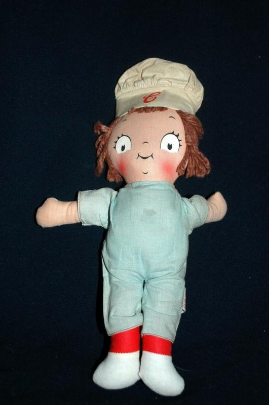 Vintage Campbell Soup Kids Doll, Knickerbocker-  boy     FREE SHIPPING