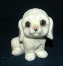 Josef Originals Flocked Fuzzy Puppy with Glass Eyes  Free Shipping