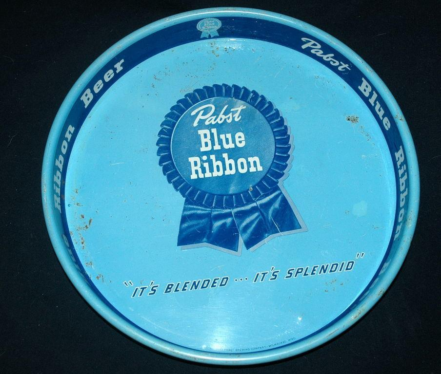 Pabst Blue Ribbon Tip, Bar Tray 1950's