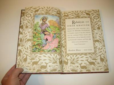 RUBAIYAT OF OMAR KHAYYAM 1947 Random House  Book  Free Shipping