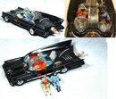 Orig 60's Corgi Batmobile with Batman & Robin