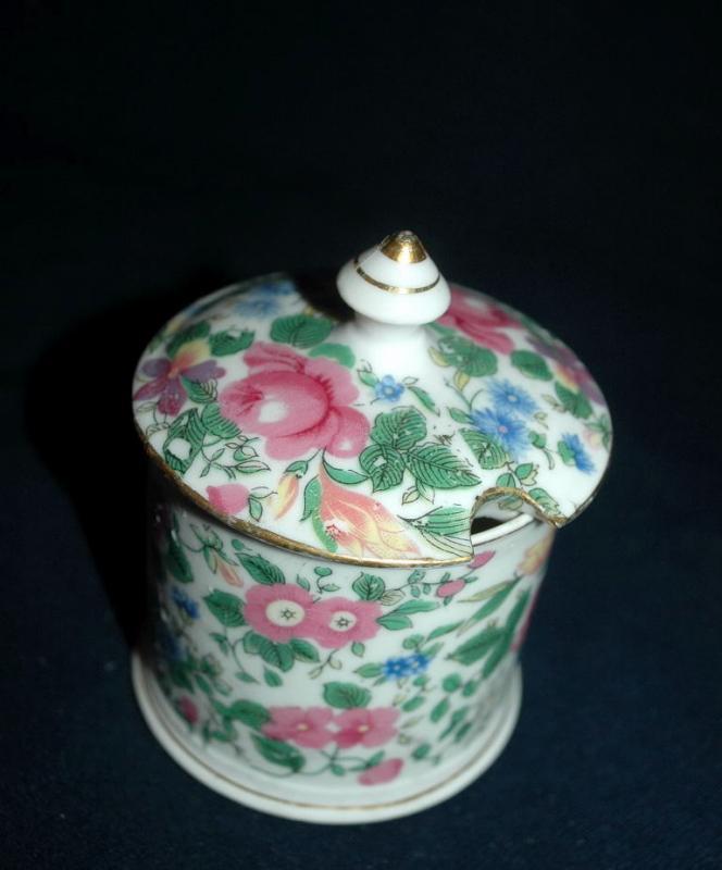 Nasco Imperial China Floral Chinz Jam Jar