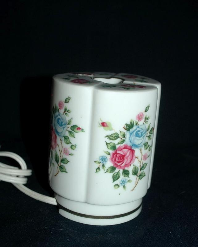 Roses Porcelain Lamp Night-Light