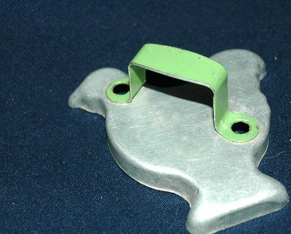 Chicken Aluminum Cookie Cutter Green Painted Handle   FREE SHIPPING