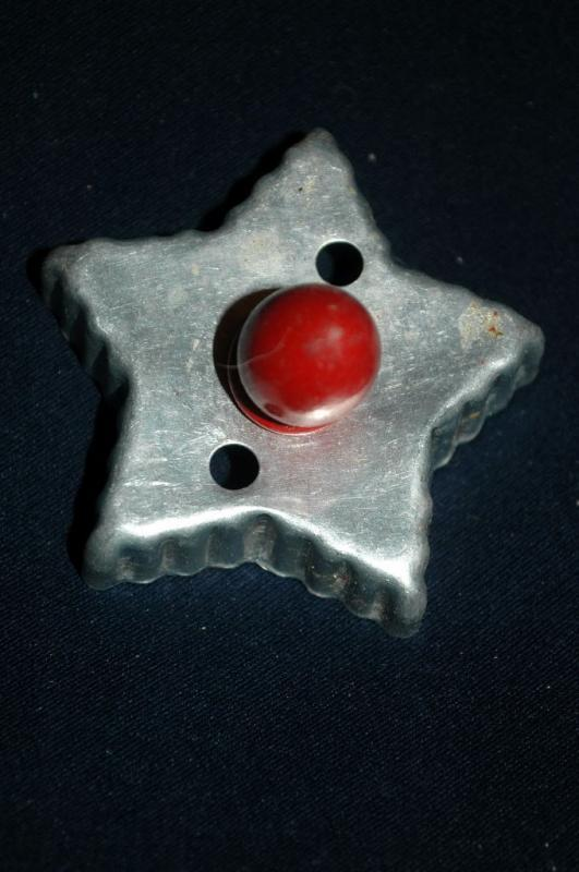 Star  Aluminum  Cookie Cutter  Red Painted Handle   FREE SHIPPING