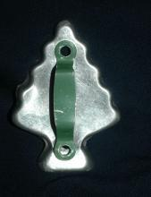 Christman Tree  Aluminum  Cookie Cutter  Green Painted Handle   FREE SHIPPING