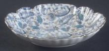 RARE LEFTON BLUE PAISLEY Oval Mint dish    Free Shipping