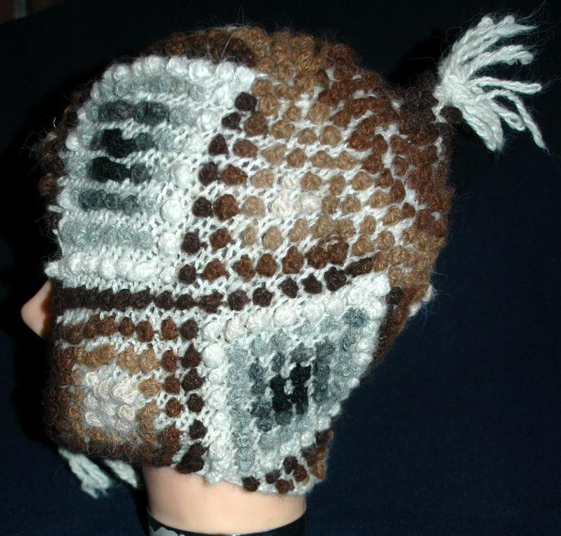 Natural Baby Alpaca Hand Knit Nubby  Cap, Hat  with Ear Flaps   Free Shipping