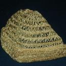 Vintage Metallic Gold Crochet Cloche Flapper Hat    Free Shipping