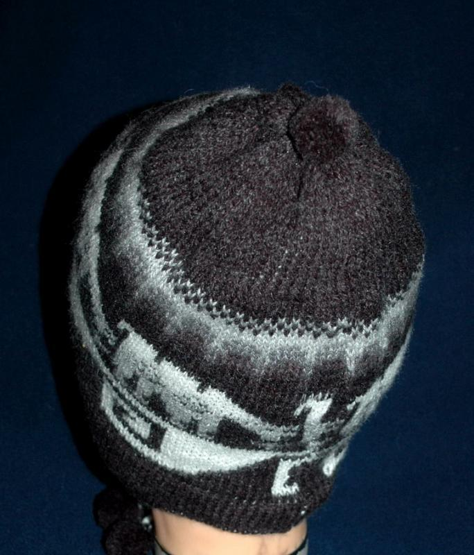 Alpaca Hand Knitted Ear Flap  Reversible Hat  Free Shipping