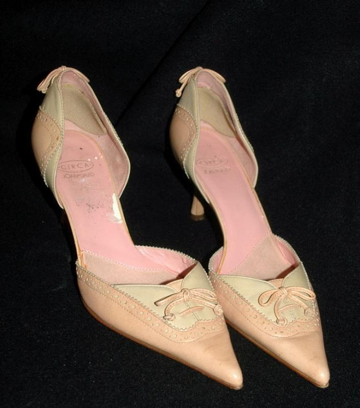 Pink Pointy Spectator High  Heels Pumps Circa by Joan & David  sz  7.5M