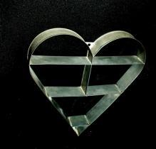 Metal Heart Shaped Knick Knack Wall Shelf
