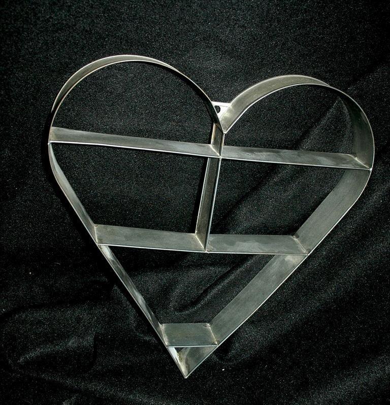 Metal Heart Shaped Knick Knack Wall Shelf