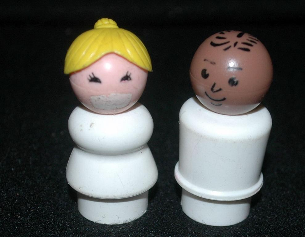 Little People  Hospital Nurse &  Doctor Vintage Fisher Price Little People