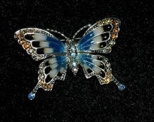 Monet swallowtail butterfly pin