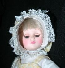Effanbee doll 1975  #1176 in Bonnet and Yellow Dress