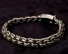 SOLID 925 STERLING SILVER HEAVY & CHUNKY CURB LINK VINTAGE  54 grams