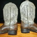 Exotic Nocona Lizard & Leather Cowboy Boots 7.5D   ( mens)
