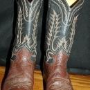 Tony Lama Brown on Brown 7 row stitched Cowboy Boots 9 D mens