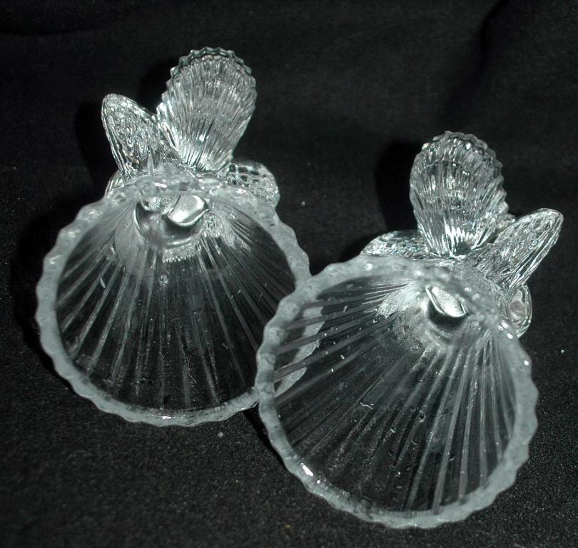 Pair of  Crystal  Angel Candle  Holders