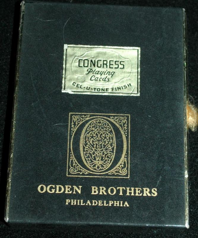 Congress playing cards cel-u- tone finish Ogden Brothers   Jasperware