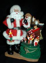 Kirkland Signature Fabric Mache Santa Claus Center Piece