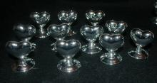 Silver Heart Place Card Holders  x 11