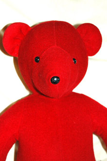 Red Valentines Teddy Bear Designer Barbara