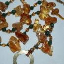 Amazon Basin Chunky Amber & Jadeite Stone Necklace, Hand Crafted  Tribal Style