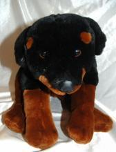 ROTTWEILER Plush Puppy Dog Brown Black Kids Preferred 2000