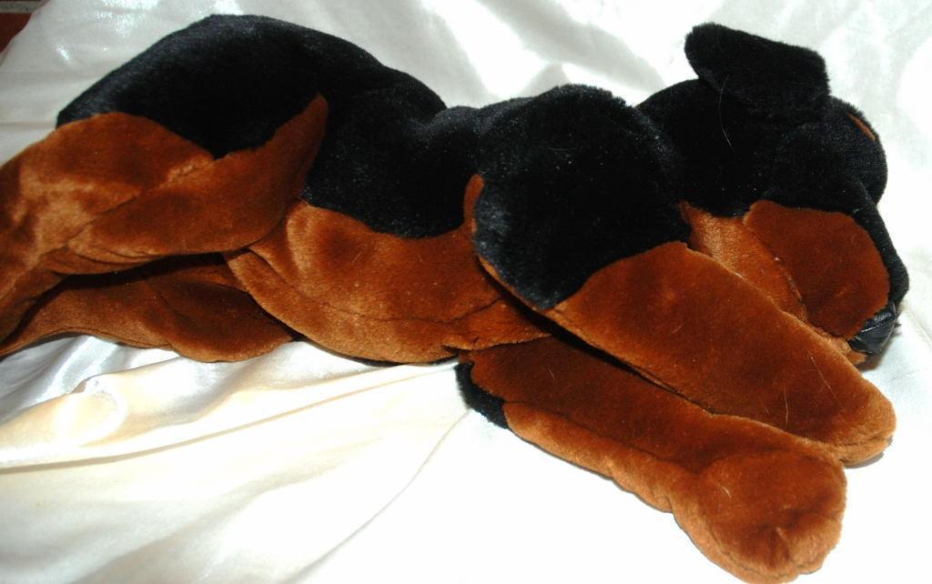 ROTTWEILER Plush Puppy Dog Brown Black Kids Preferred 2000